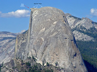 People on Half Dome
